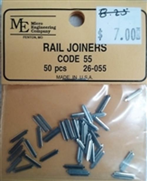 MICRO ENGINEERING N scale Code 55 metal Rail Joiners