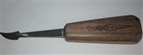 OCC Curved Skew  - Short  Walnut Handled Curved Skew