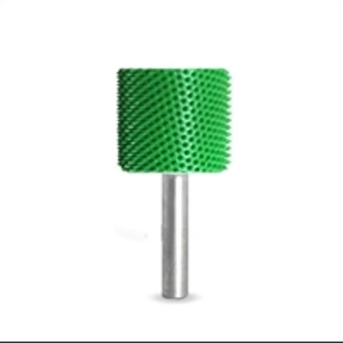 SABURR Coarse 1 inch cylinder Smooth End  1/4 inch shaft