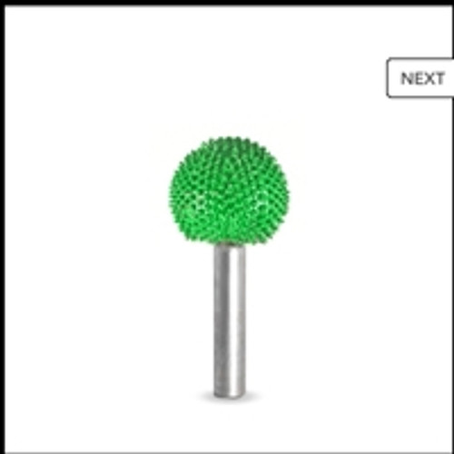 SABURR Coarse 7/8 inch Sphere 1/4 inch shaft