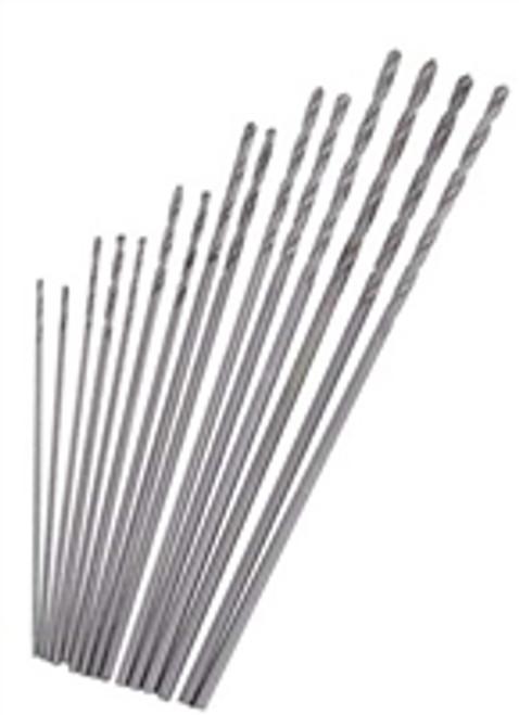 SE 15pc High Speed Steel Mini Drill Bit Set .2mm to 1mm