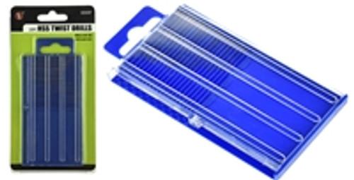 SE 20pc HSS Twist Drills (#61-80) with Slide Case and Organizer