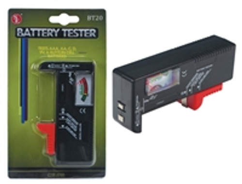 SE  Battery Tester: Suitable for: AAA, AA,C, D, 9V, & Button Cell Batteries