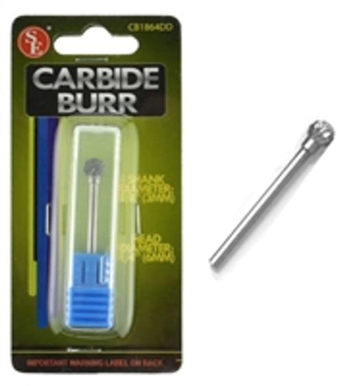 SE Double Cut Carbide Burrs: Ball, Shape D