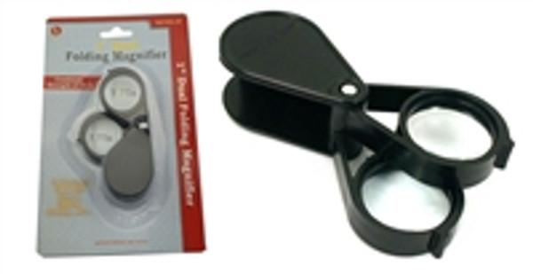 "1"" Dual Lens) Folding Multi-Power Pocket Magnifier"