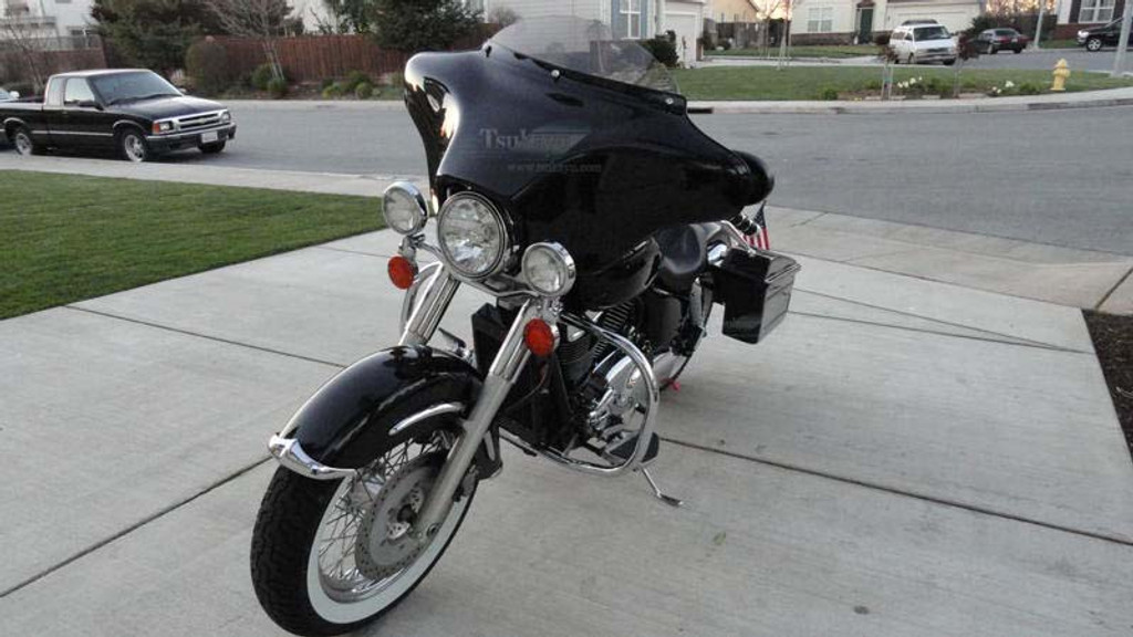 Batwing Fairing For Honda Shadow Ace Dlx 6x9 Speakers Stereo Black