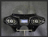 Batwing Fairing for Screaming Eagle Road King (FLHRSE4) - 6 x 9 Speakers + Stereo - Black
