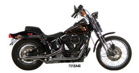 """1¾"""" Staggered Dual Exhaust Systems  For 1984-1999 Evolution Softails - 34"""" long Slash Cut drag pipes"""