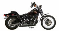 """1¾"""" Staggered Dual Exhaust Systems  For 1984-1999 Evolution Softails - 38""""-long Slash Cut muffler set"""
