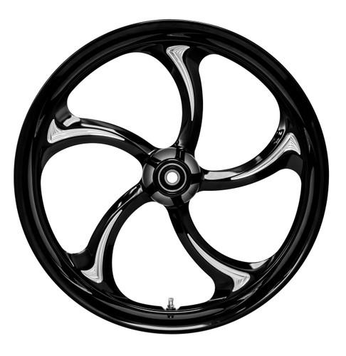 Colorado Custom S-5 Black Cut Motorcycle Wheel