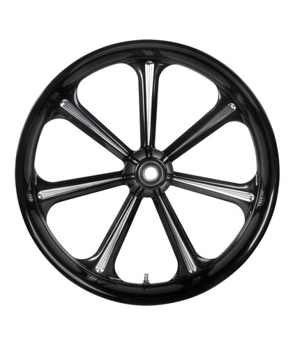 Houston Custom Motorcycle Wheel - 7 Spokes - Colorado Custom