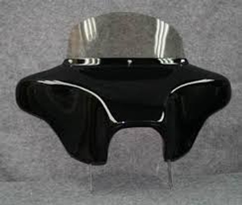 Batwing Fairing for Honda Shadow Ace DLX - 6x9 Speakers + Stereo - Black