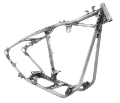 """Rigid Frame 1 1/4"""" tubing 30 degree rake 0"""" stretch includes axle and adjusters ($860.00)"""