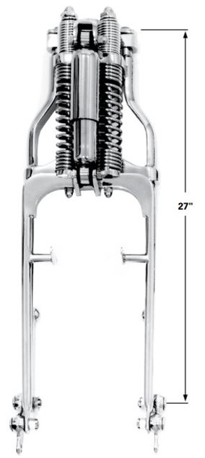 """Paughco Wide Shock Springer with Half Round Rear Legs - Stock length (total length – 27"""")"""