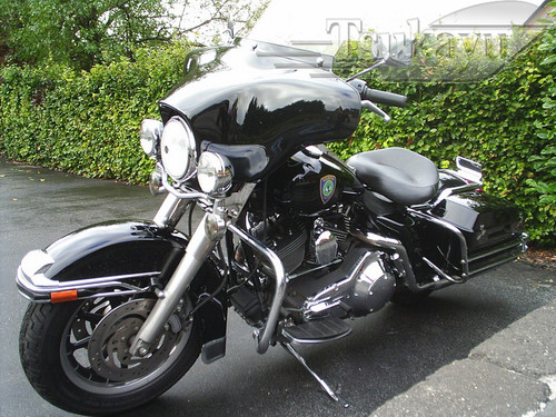 Black Paint 6x9 Batwing Fairing Harley Davidson Road King Police