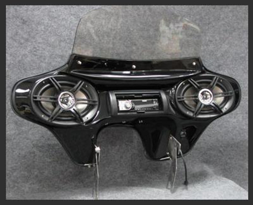 Batwing Fairing  with 6x9 Speakers for Harley Davidson Screamin' Eagle Road King - Gloss Black