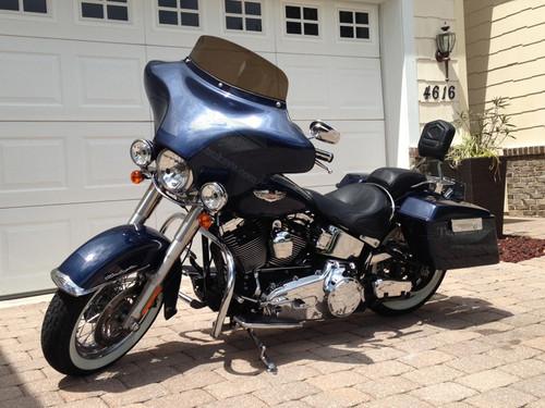 Black Paint 6x9 Batwing Fairing Harley Davidson Softail Deluxe FLSTN