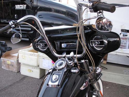 Black Gel Coat 6x9 Batwing Fairing Harley Davidson Softail Deluxe