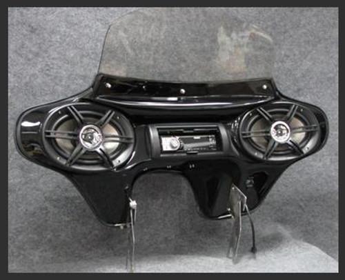 Black Paint 6x9 Batwing Fairing Kawasaki Vulcan Classic / Classic LT 2006 -2013