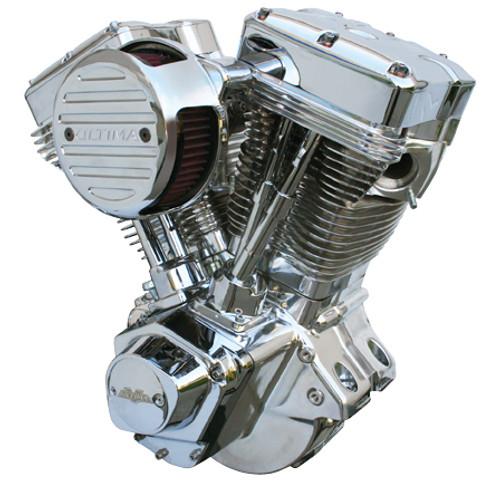 El Bruto® Series Ultima 4.00 Bore 113 CI  Engine - Polished Assembled