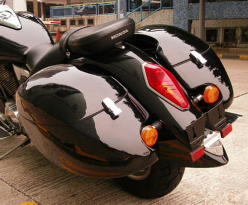 Honda Vtx Gloss Black Hard Saddlebags (Tsukayu)