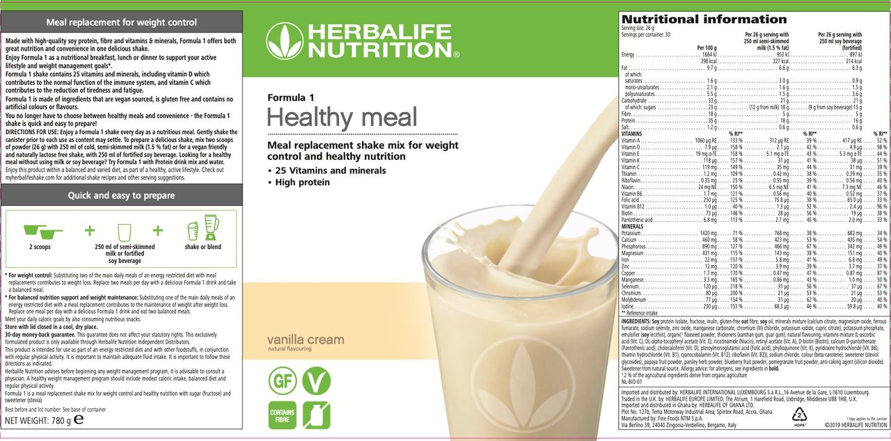 | Independent Herbalife Nutrition Member | Formula 1 ...