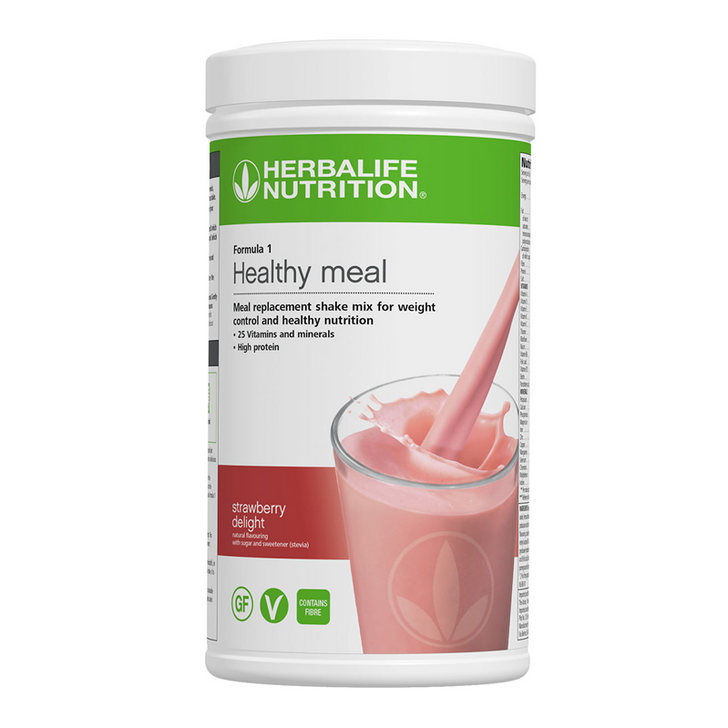 Herbalife - Formula 1 Nutritional Shake Mix - Strawberry Delight (550g) - Container