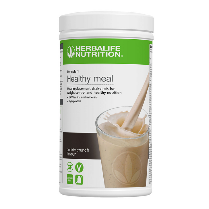 Herbalife - Formula 1 Nutritional Shake Mix - Cookie Crunch (550g) - Container