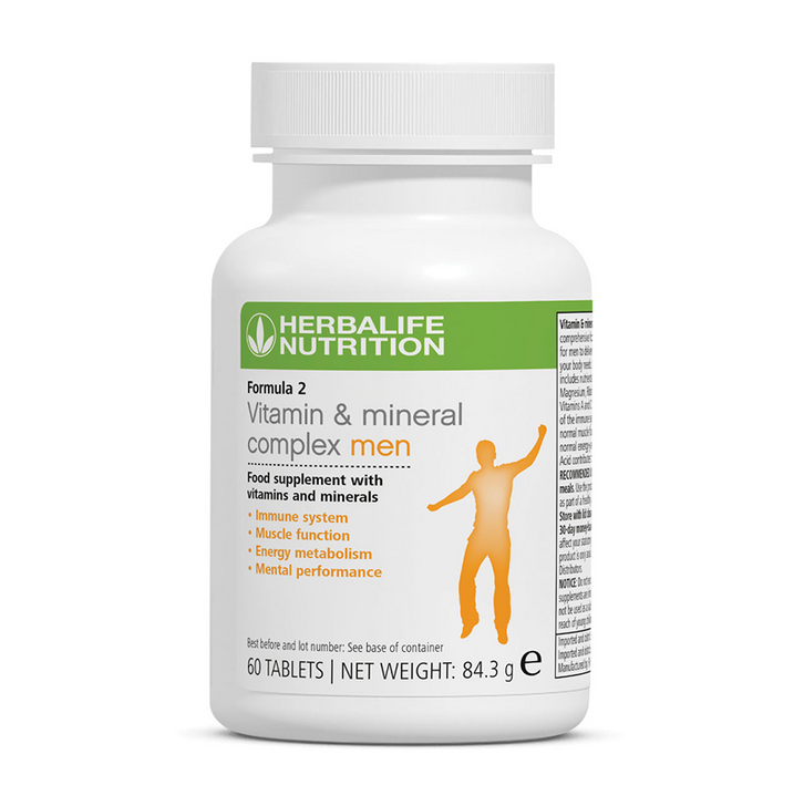 Herbalife - Vitamin & Mineral Complex - Men (60 Tablets) - Container