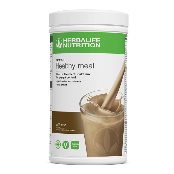 Herbalife - Formula 1 Nutritional Shake Mix - Café Latte (550g) - Container