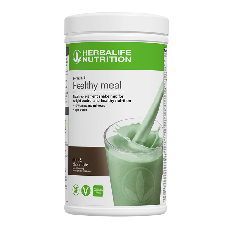 Herbalife - Formula 1 Nutritional Shake Mix - Mint and Chocolate (550g) - Container