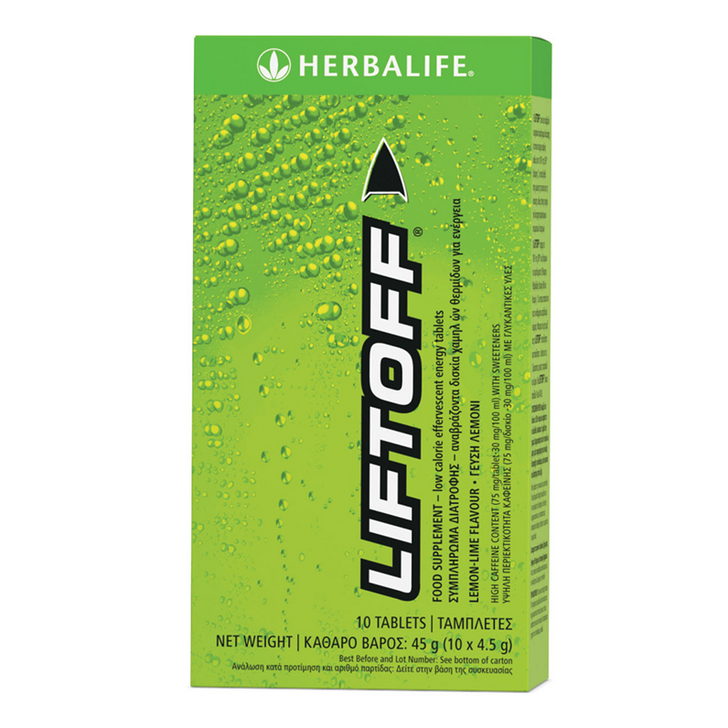 Herbalife - Lift Off Effervescent Energy Drink - Lemon-Lime (10 Tablets) - Box