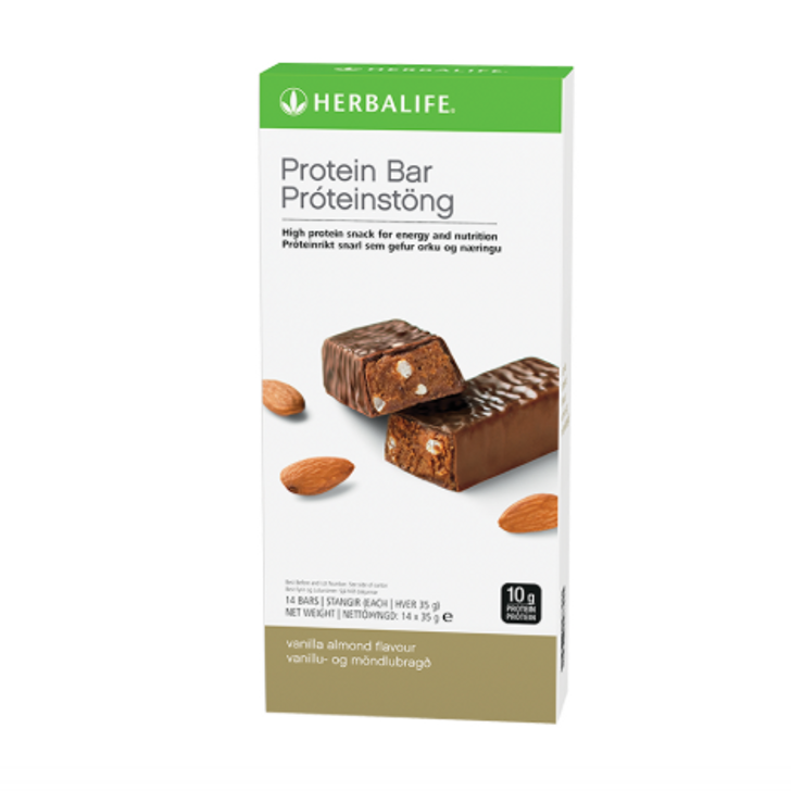 Herbalife - Protein Bars - Vanilla Almond (Box of 14) - Box