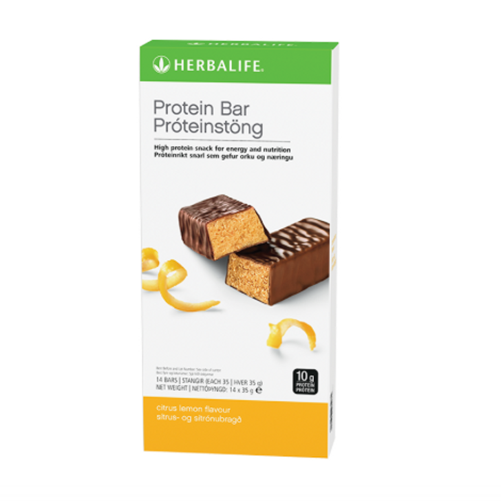 Herbalife - Protein Bars - Citrus Lemon (Box of 14) - Box