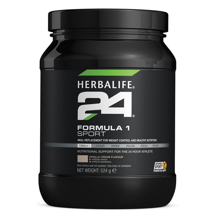 HERBALIFE24 - Formula 1 Sport - Healthy Meal for Athletes - Vanilla Cream (524 g) - Container