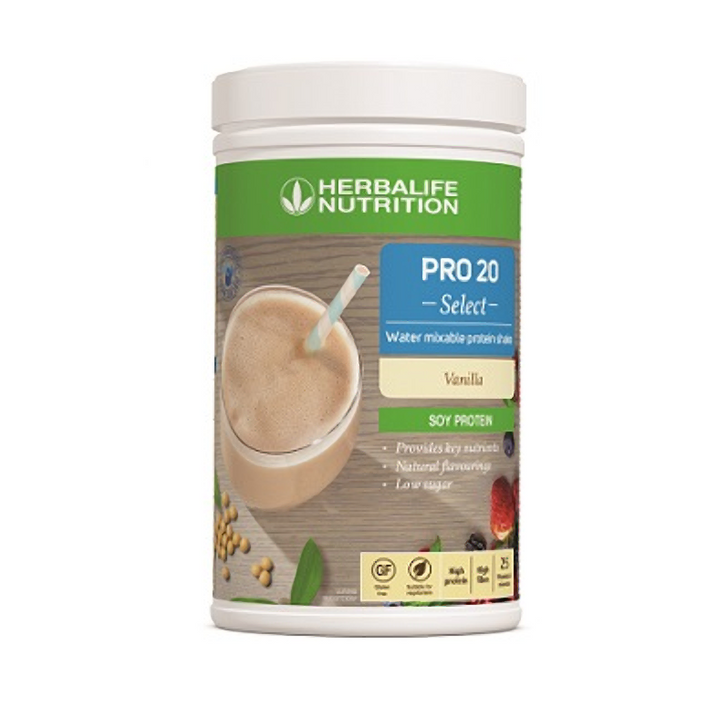 Herbalife - PRO 20 Select - Water Mixable Protein Shake (630g) - Container