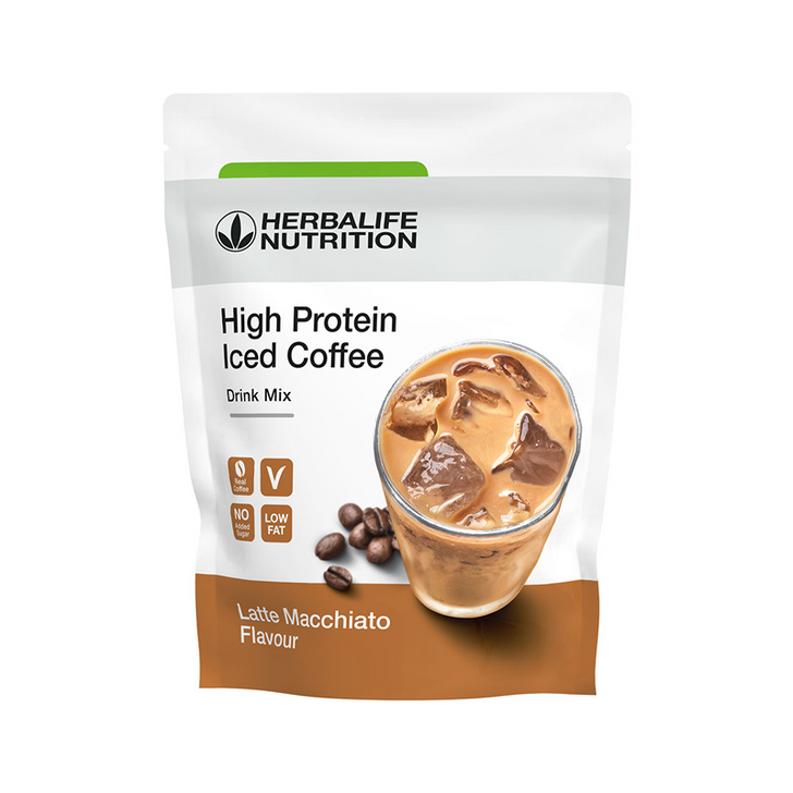 Herbalife - High Protein Iced Coffee Latte Macchiato (308g) - Packaging