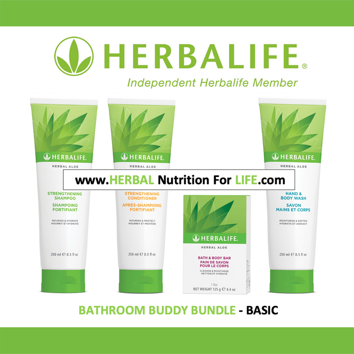 Herbalife - Herbal Aloe Bathroom Buddy Bundle - BASIC (4 Products)
