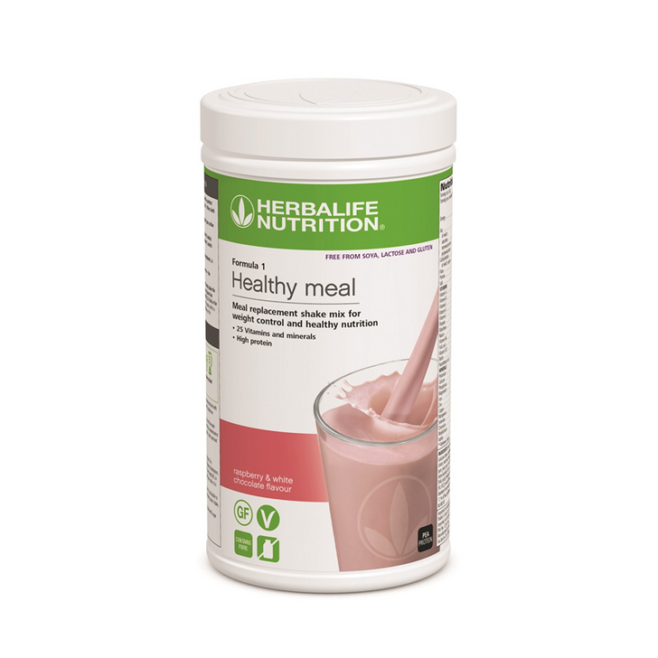 Herbalife - Formula 1 Nutritional Shake Mix - 'Free From' Raspberry and White Chocolate (500g) - Container