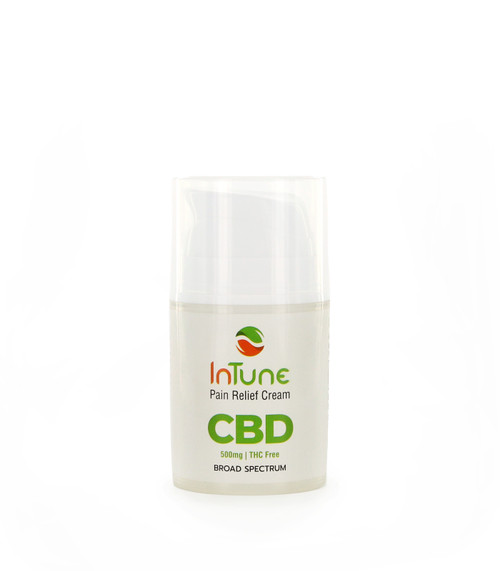 CBD infused pain relief cream with cooling menthol