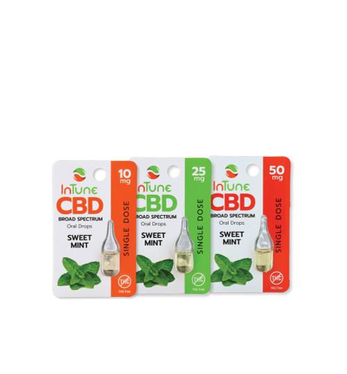 10mg, 25mg, 50mg Sweet mint cbd single samples