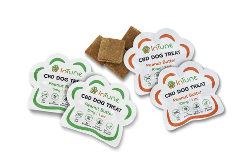 5mg and 10mg Peanut Butter CBD Dog treat samples