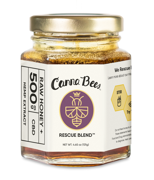 500mg Canna Bees CBD Honey Jar