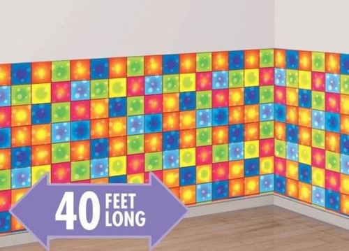 Disco Boogie Squares Room Roll
