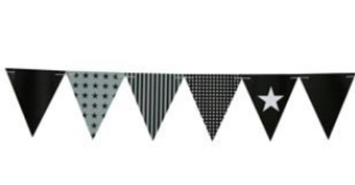 Black Party Flags