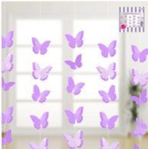 3D Butterfly Garland Lavender