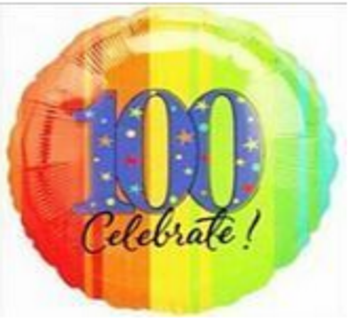 ATP A Year to Celebrate 100 Foil Balloon