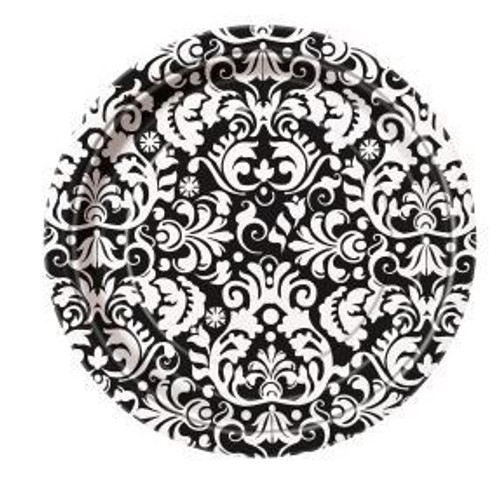 Black Damask Side Plate