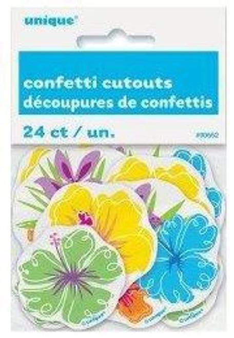 24 Asst Luau Confetti Cutouts