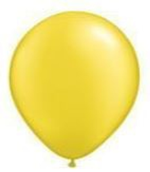 Pearl Citrine Yellow 12cm Balloons - Pack of 100